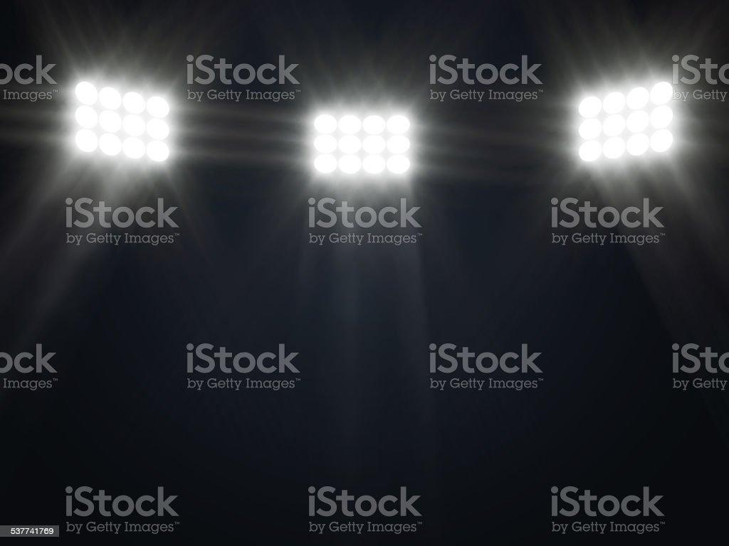 Abstrakte Darstellung der Bühne Rampenlicht mit Strahlen – Foto
