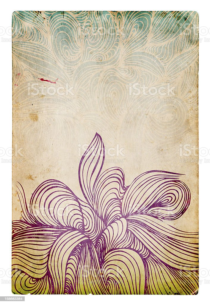 Abstract illustration on old grunge paper texture royalty-free stock photo