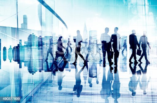 istock Abstract Image of Business People's Busy Life 490577899