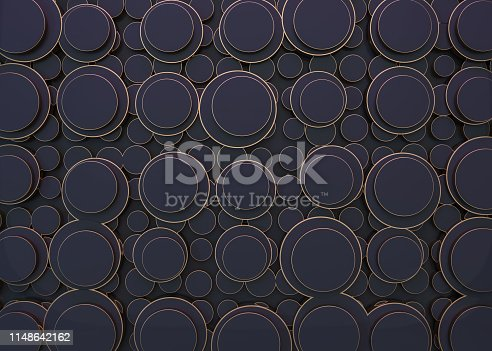 479257178istockphoto Abstract image of circles background. 3D 1148642162