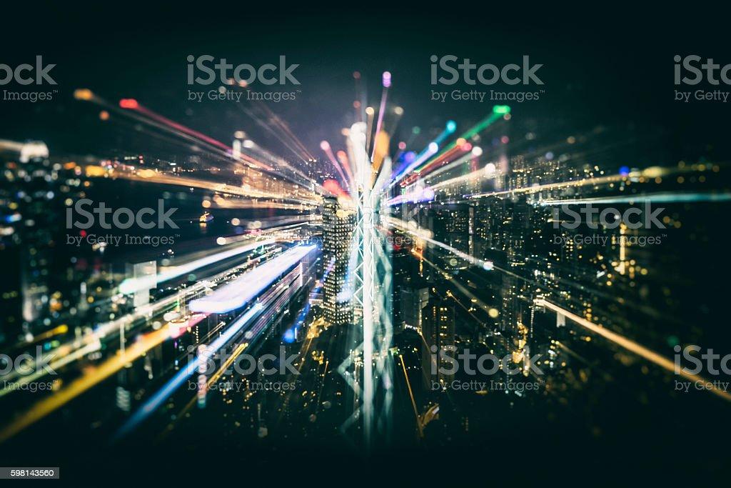 Abstract image of city,hong kong – Foto