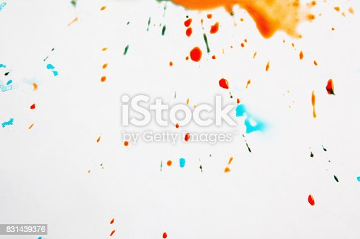 istock Abstract image of colorful drops 831439376