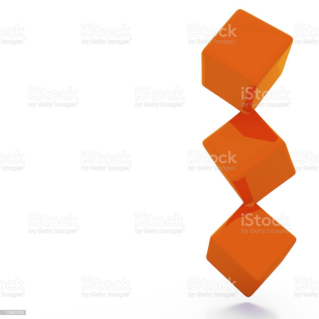 Abstract image of cubes background royalty-free stock photo