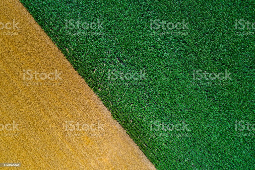 Abstract image of fields stock photo