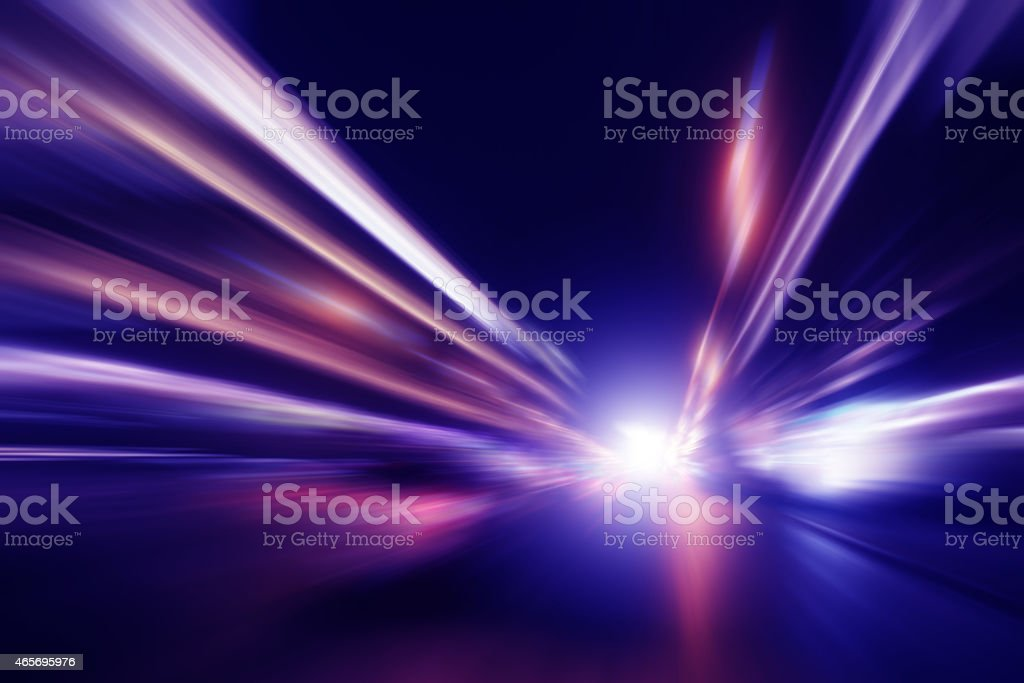 Abstract image of high speed driving stock photo