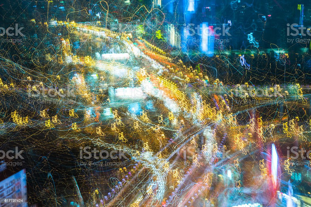 Abstract Image Of Multi Colored Lights.