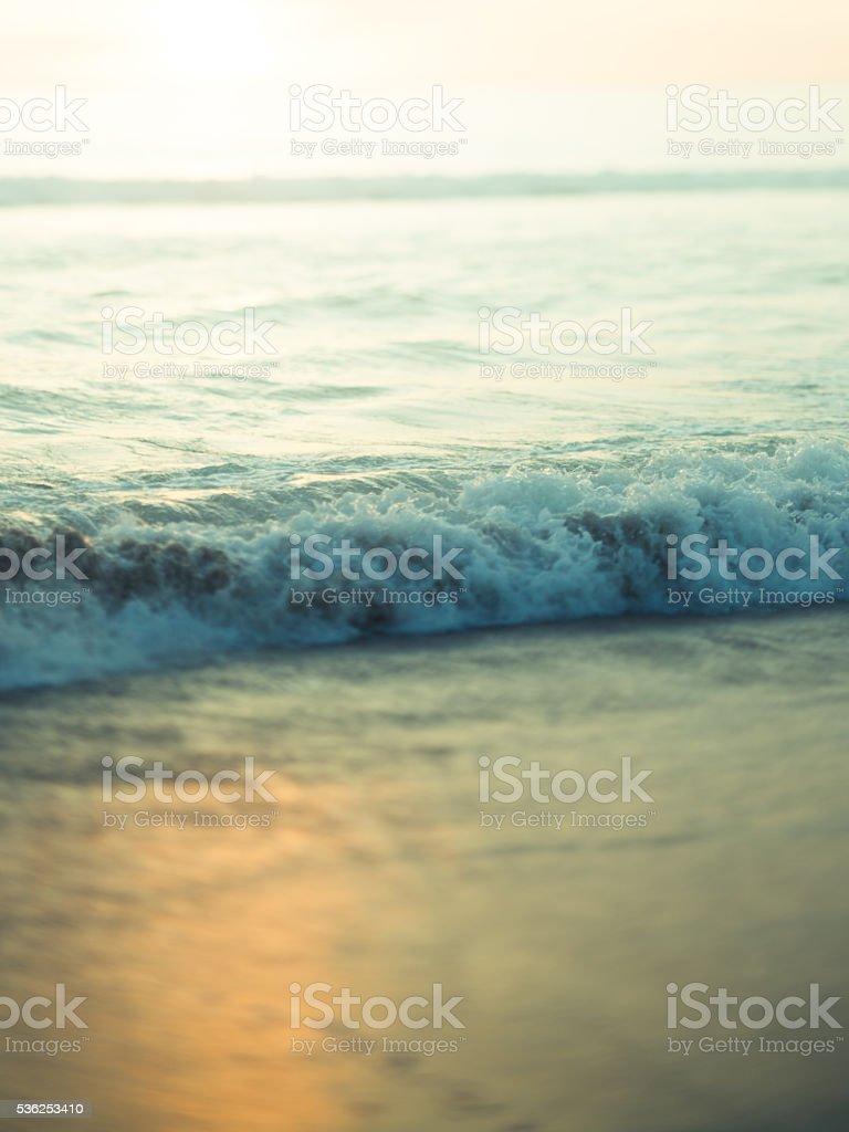 Sfondo Immagine Di Mare E Sabbia Al Tramonto Fotografie Stock E