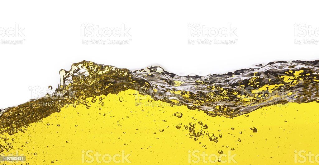 abstract image of spilled oil . On a white background. royalty-free stock photo