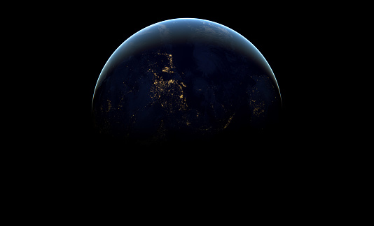 Abstract Image Wallpaper Of Planet Earth In Dark Outer Space
