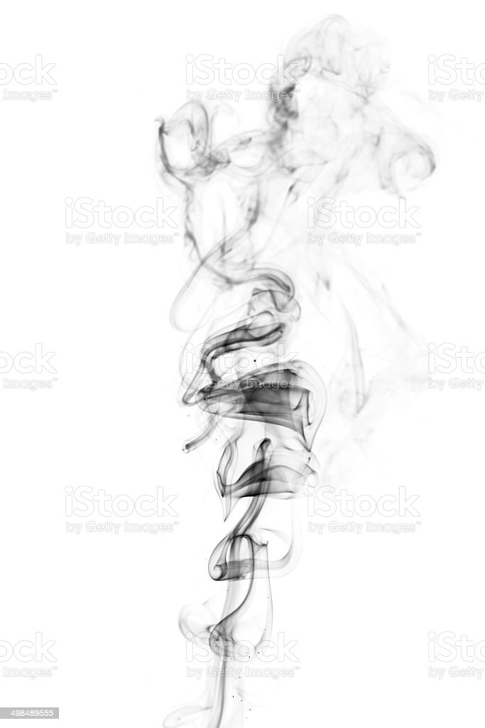 Abstract incense smoke isolated stock photo
