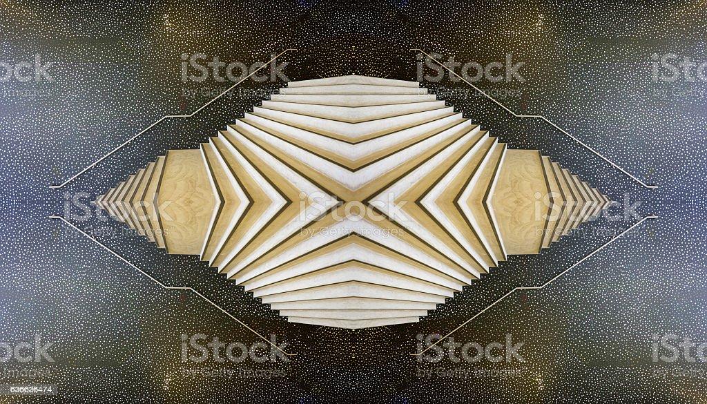 Abstract infinite stairway, kaleidoscopic stock photo
