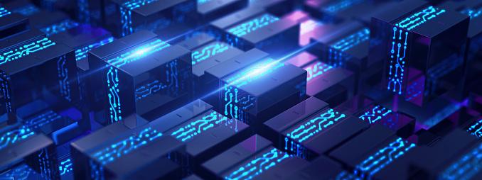 Big data. Information concept. 3D render