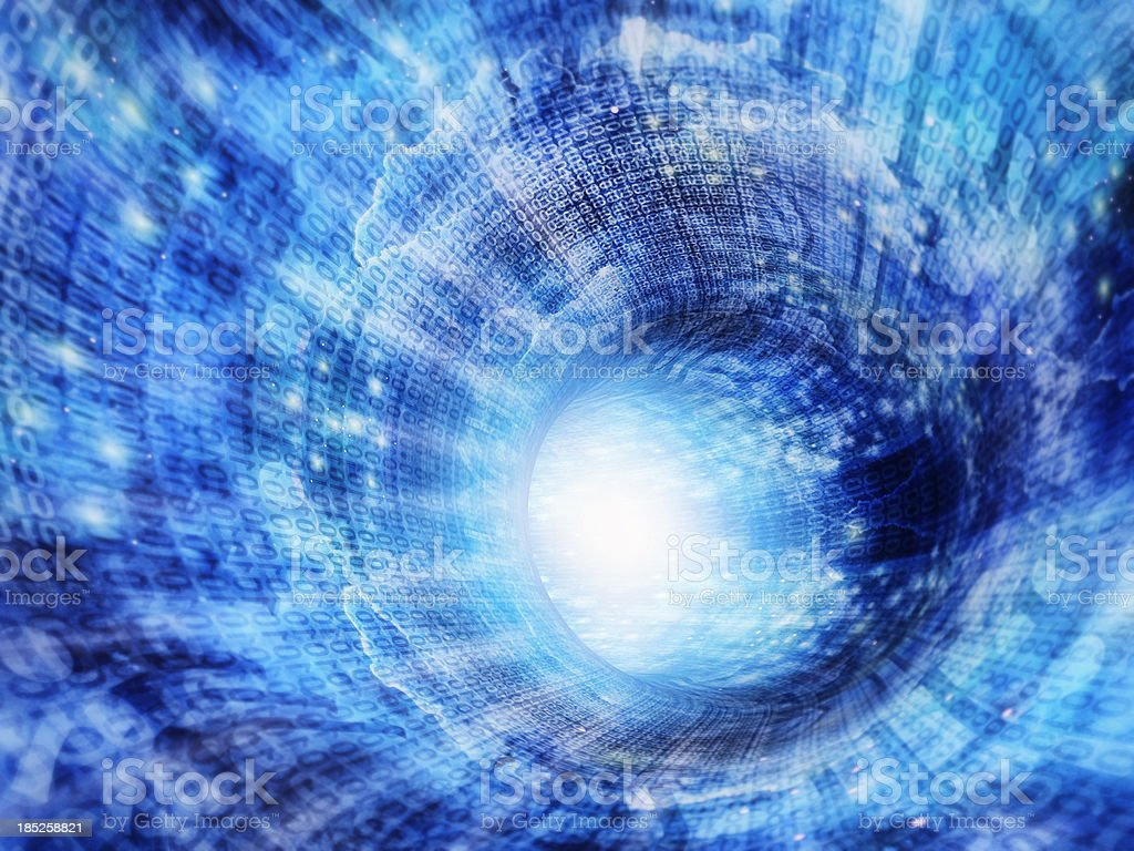 Abstract information tunnel stock photo