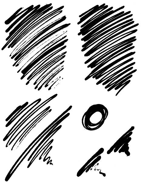 Abstract Ink Scribbles stock photo
