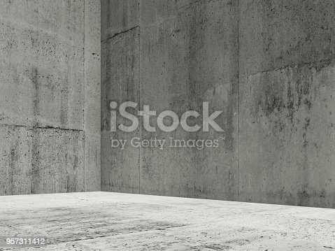 istock Abstract interior background, empty room 3d 957311412