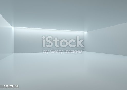687371974 istock photo Abstract interior design of modern large showroom 1226479114