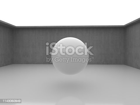 istock Abstract interior design of modern showroom 1143060949