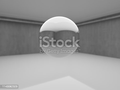 istock Abstract interior design of modern showroom 1143062325