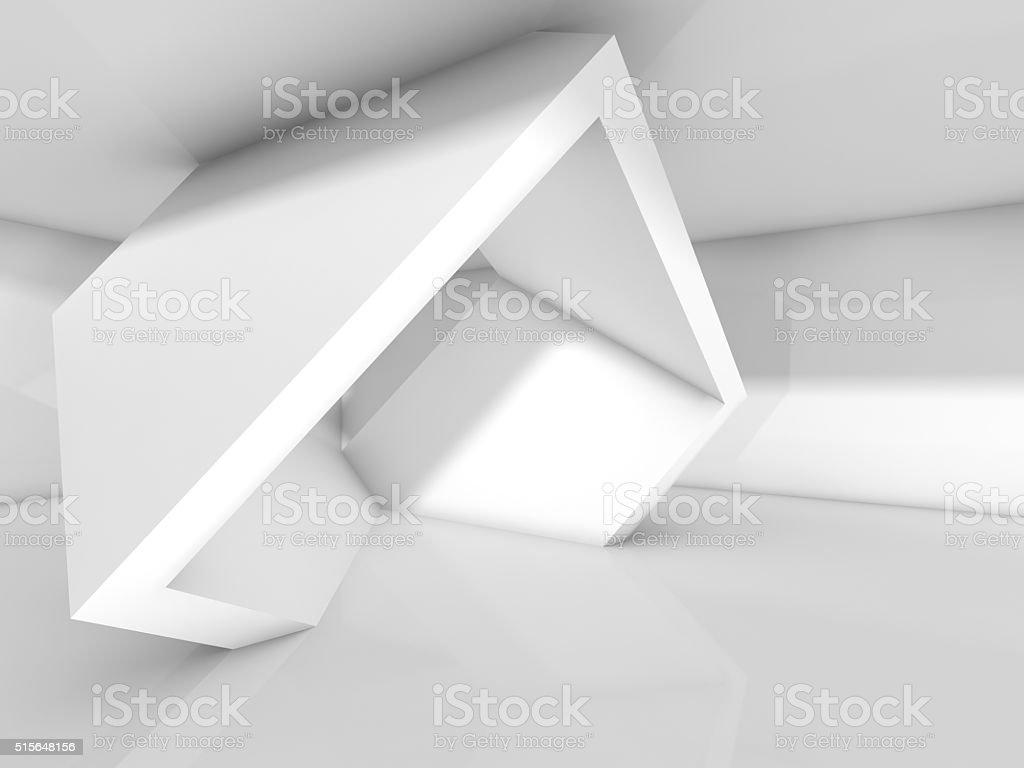 Abstrakte Gestaltung, weiß, geometrischer Installation – Foto