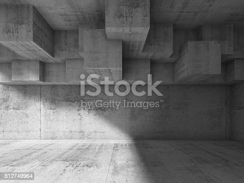 istock Abstract interior design with cubic structure 3 d 512749964