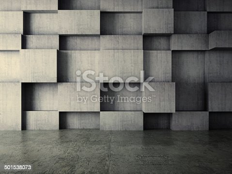 istock abstract interior of concrete wall background 501538073