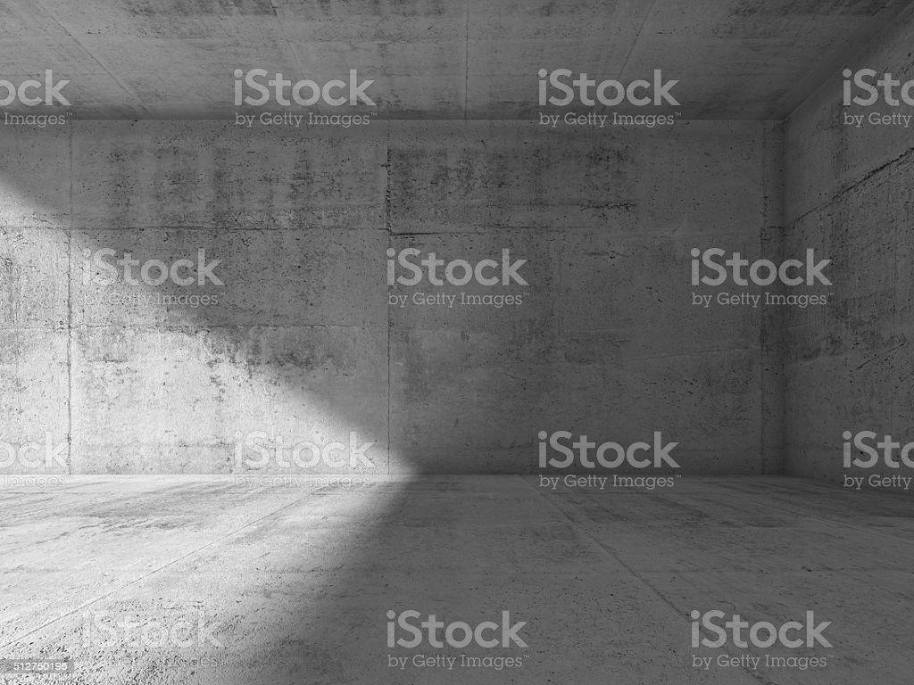 Abstrakte Interieur mit leeren dunklen Asphalt Zimmer – Foto
