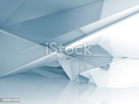 istock Abstract interior with chaotic polygonal structure 490854326