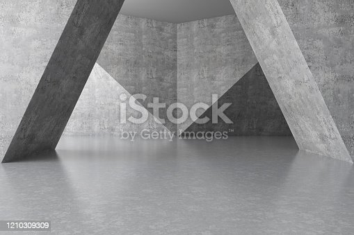 692409462 istock photo Abstract interior with Empty Concrete Wall 1210309309