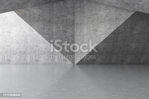 692409462 istock photo Abstract interior with Empty Concrete Wall 1210309400