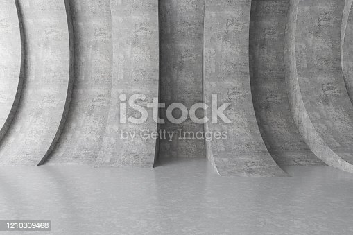 692409462 istock photo Abstract interior with Empty Concrete Wall 1210309468