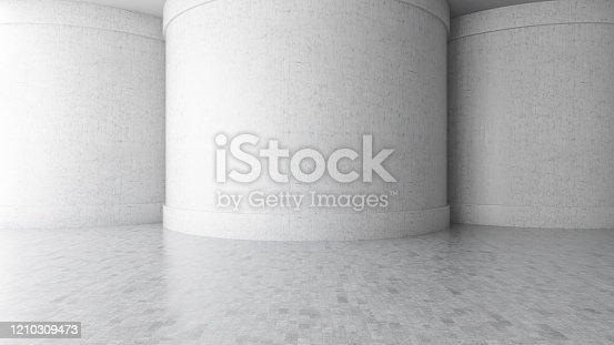 692409462 istock photo Abstract interior with Empty Concrete Wall 1210309473