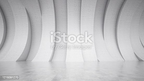 692409462 istock photo Abstract interior with Empty Concrete Wall 1219391270