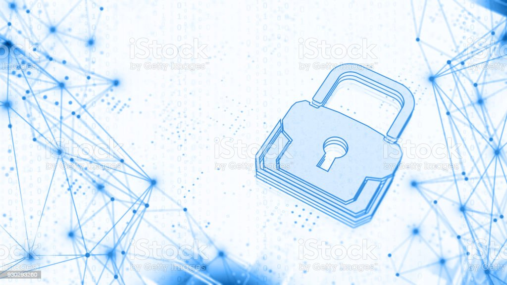 Abstract Internet Cyber Security concept stock photo