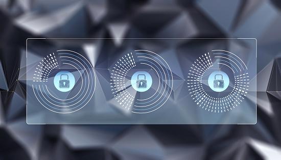 Abstract Begrip Van Internet Cyber Security Stockfoto en meer beelden van Bescherming