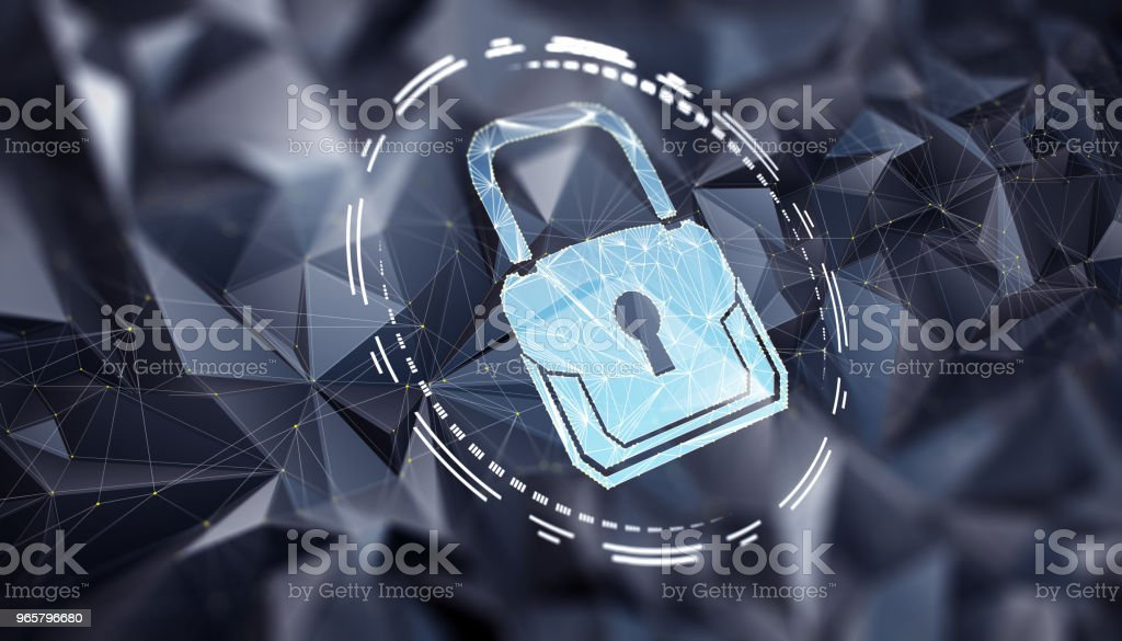 Abstract begrip van Internet Cyber Security - Royalty-free Bescherming Stockfoto