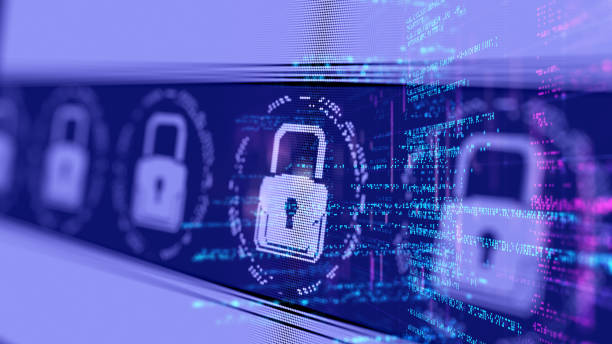 conceito abstrato de internet rede cyber security - security - fotografias e filmes do acervo