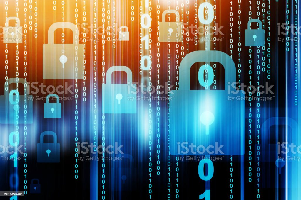 Abstract internet security stock photo