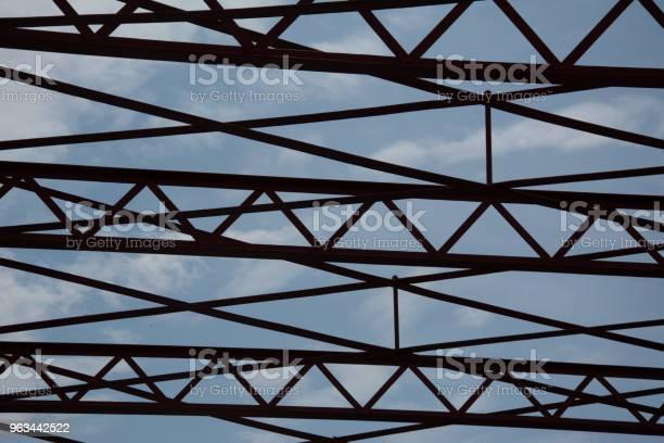 Abstrakcyjna Praca Żelaza Z Błękitnym Niebem - zdjęcia stockowe i więcej obrazów Abstrakcja