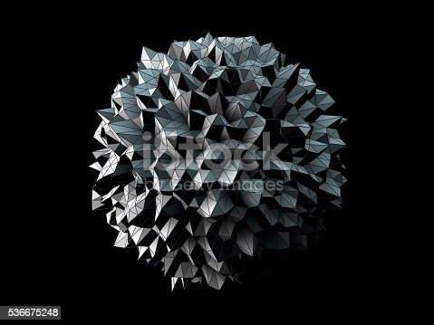 istock Abstract irregular spherical shape 536675248