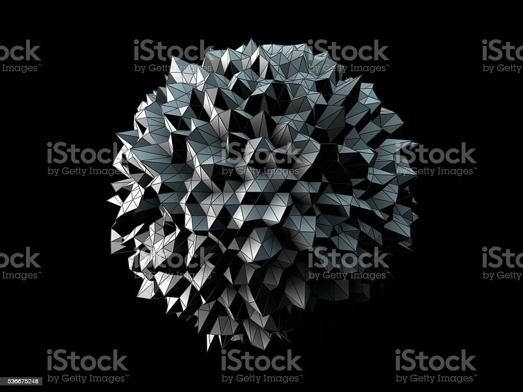 Abstract irregular spherical shape stock photo