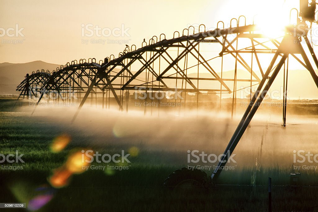 Abstract Irrigation Pivot stock photo