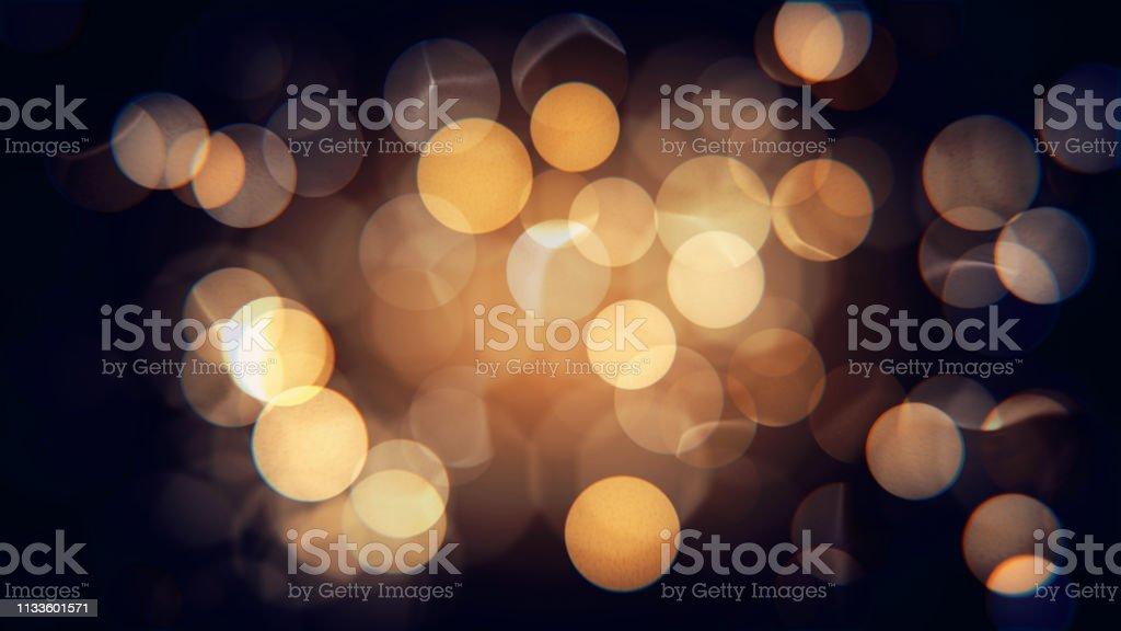 Abstrait isolé floue festif jaune et orange lumières de Noël avec bokeh - Photo de Abstrait libre de droits