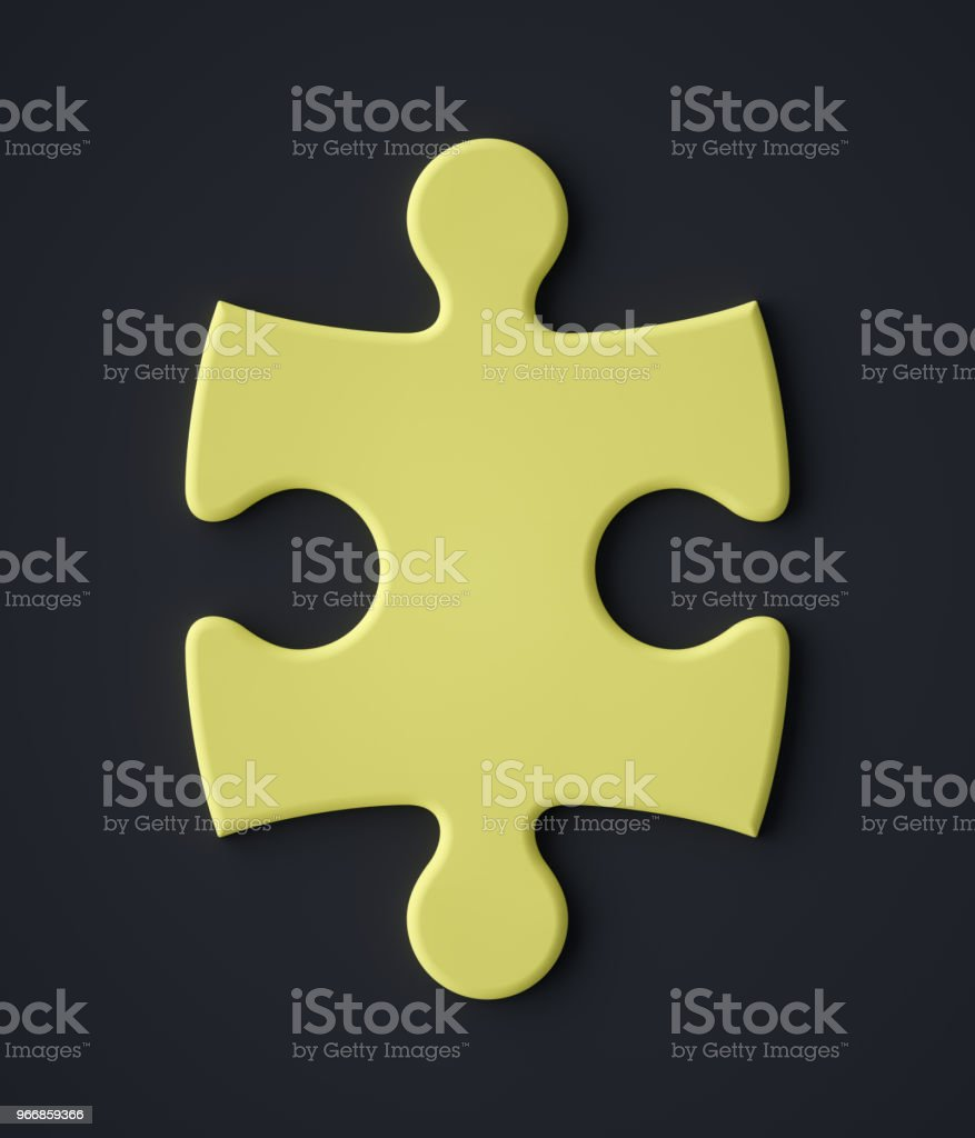 Abstract Jigsaw puzzle piece symbol stock photo