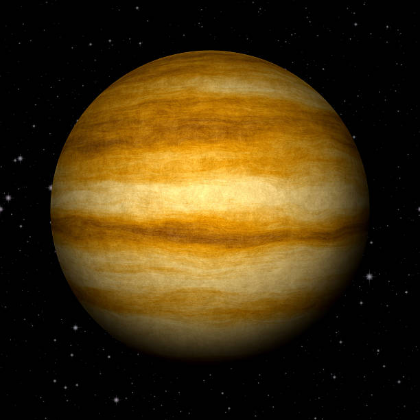 Abstract Jupiter planet generated texture background stock photo