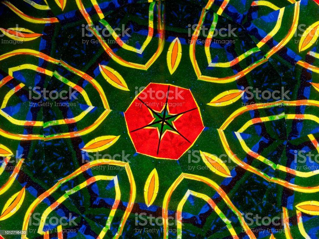 abstract kaleidoscope background stock photo