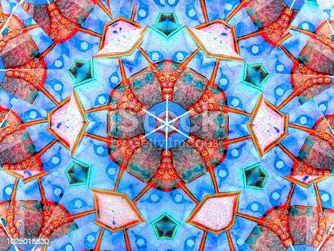 macro of abstract kaleidoscope