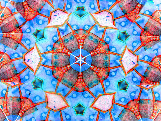 abstract kaleidoscope background stock photo