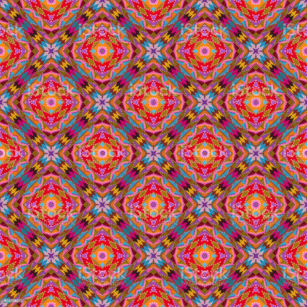 Abstract kaleidoscope or endless pattern. stock photo