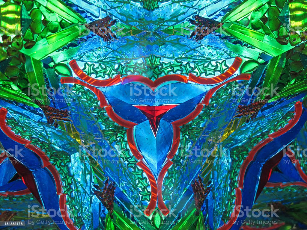 abstract kaleidoscope royalty-free stock photo