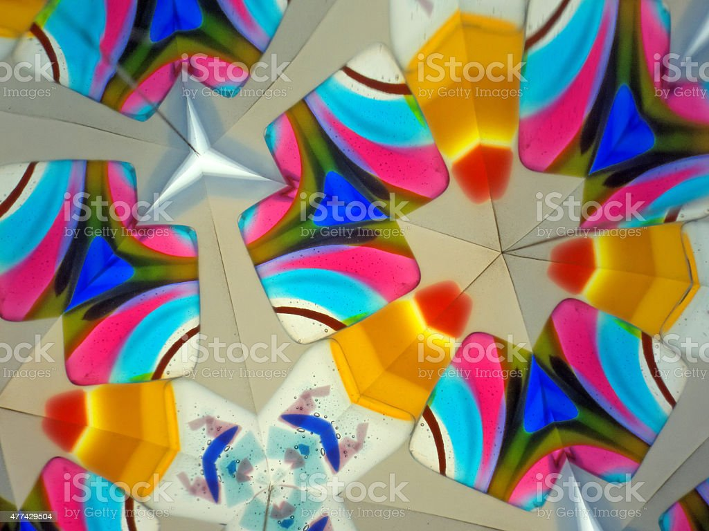 abstract kaleidoscope stock photo